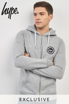 Hype Grey Crest Zip Through Hoody