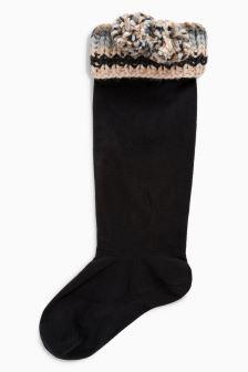 Stripe Welt Welly Socks One Pack