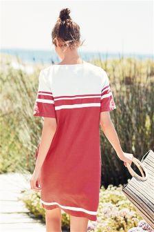 Colourblock Linen Blend Dress