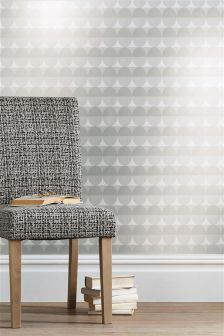 Paste The Wall Grey Oval Wallpaper