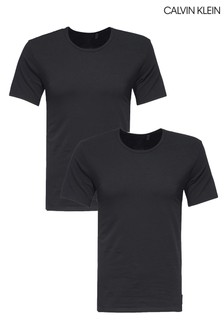 Calvin Klein Black Short Sleeve Crew Neck Top Two Pack