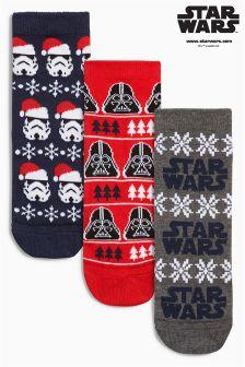 Festive Star Wars™ Socks Three Pack (Older Boys)