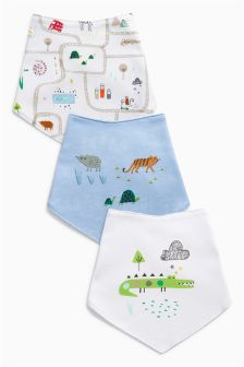 Zoo Animal Dribble Bibs Three Pack