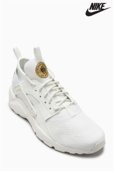Nike White/Gold Huarache Run