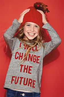 Slogan Long Sleeve Top (3-16yrs)