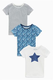 Star T-Shirts Three Pack (3mths-6yrs)