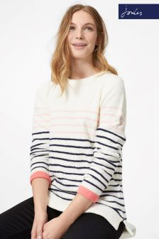 Joules Pink/Cream Seaham Jumper