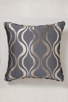 Geo Wave Jacquard Cushion