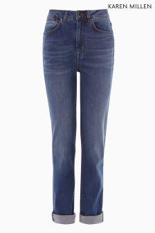 Womens High Waisted Jeans | Black & Blue Highwaisted Denim | Next UK