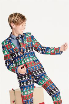 Boys Christmas Suit Jacket (3-16yrs)