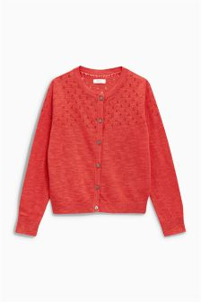 Pointelle Cardigan (3-16yrs)