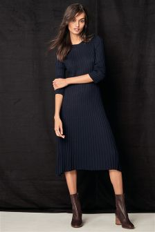 Fluted Rib Dress