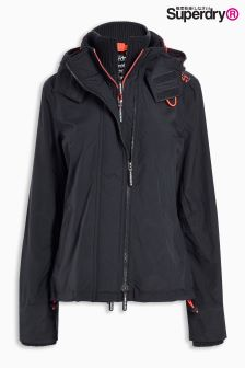 Superdry Charcoal Zip Hooded Arctic Windcheater Jacket