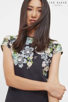 Ted Baker Black Gem Gardens Fitted Tee