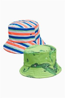 Chameleon/Stripe Fisherman's Hats Two Pack (Younger)