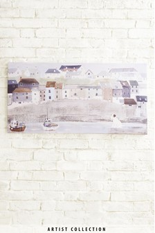 Artist Collection Harbour Scene by Hannah Cole Canvas