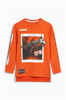 Tyrannosaurus Long Sleeve Top (3-16yrs)