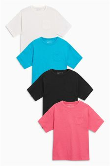 Oversized Fit T-Shirts Four Pack (3-16yrs)