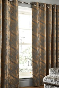 Fan Jacquard Eyelet Curtains