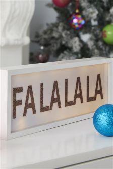 Light Up Falalala Box