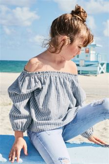 Stripe Bardot Top (3-16yrs)