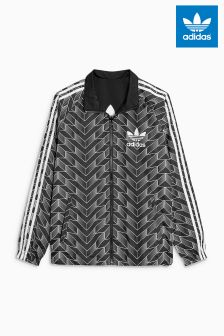 adidas Originals Black Reversible Soccer Windbreaker