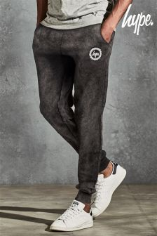 Hype Black Acid Wash Jogger