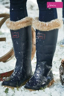Joules Navy Padded Welly