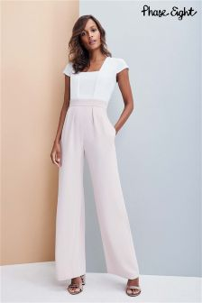Phase Eight Cameo/Ivory Darrah Jumpsuit