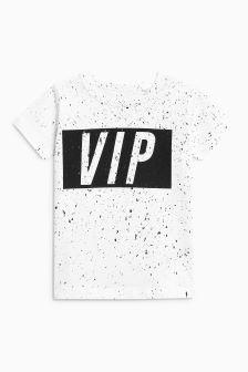 Short Sleeve VIP Splat Print T-Shirt (3mths-6yrs)