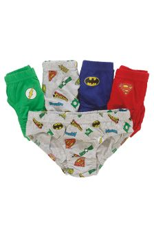 DC Comic Briefs Five Pack (1.5-8yrs)