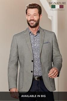 Signature Cotton Tailored Fit Jacket