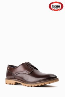 Base London Brown Bunker Lace Up Shoe