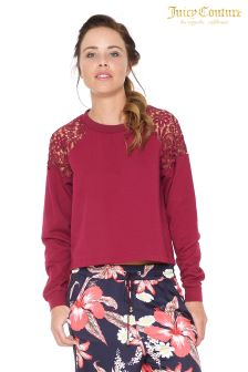 Juicy Couture Purple Terry Lace Pullover