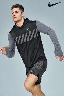 Nike Run Black Sleeveless Hoody