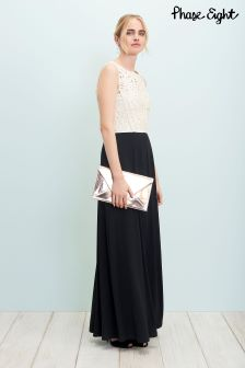 Phase Eight Black/Champagne Bondia Maxi Dress