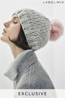 Mix/Rose And Rose Knitted Hat
