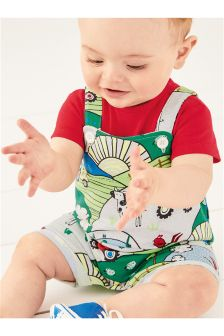 Cropped Dungarees (0mths-2yrs)