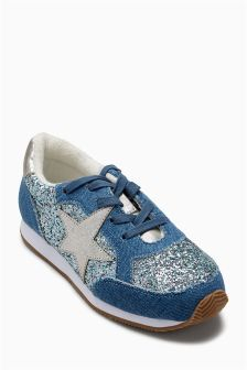 Star Glitter Trainers (Older Girls)