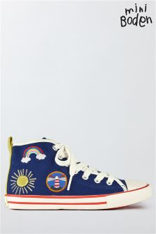 Boden Starboard Blue Appliqué High Top