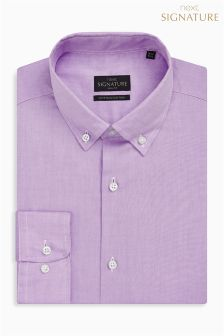 Signature Egyptian Cotton Button Down Collar Slim Fit Shirt