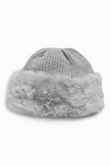 Faux Fur Beanie Hat