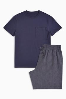 Mini Check Woven Short Set
