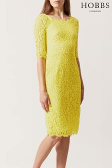 Hobbs Yellow Miller Dress