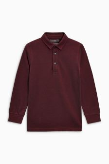 Long Sleeve Polo (3-16yrs)
