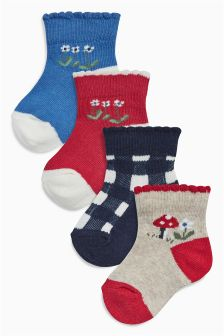 Eden Socks Four Pack (Younger Girls)