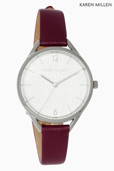 Karen Millen Brown Leather Strap Watch