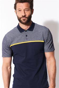 Contrast Stripe Poloshirt