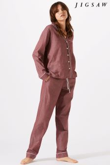 Jigsaw Red Florence Cotton Blend Pyjama