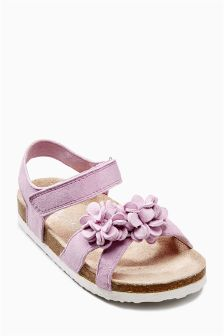 Flower Corkbed Sandals (Younger Girls)